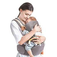 GBlife Marsupio Neonati Ergonomico con 4 Modi di Portare Marsupio Porta Bebè 0-36 Mesi Regolabile Comodo e Traspirante Materiali in 3D Mesh Poliestere e Cotone Circonferenza della Vita Max 125 cm