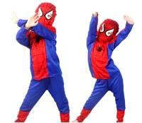 Taglia S - 3-4 anni - Costume - Travestimento - Carnevale - Halloween - Spiderman - Super eroe - Uomo Ragno - Rosso - Bambino