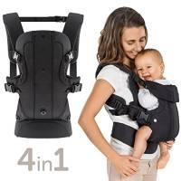 Marsupio Neonato Ergonomico / Porta Bebè 4in1 - Frontale, Schiena, Fronte Strada - variabile, evolutivo, regolabile - per Bambini (3,5-15kg)