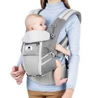 Meinkind Marsupio Neonati Ergonomico Porta Bebè 4 in 1 con Cappuccio Rimovibile e Poggiatesta Regolabile per Neonato e Bambini da 0 a 4 anni (3,2 a 20 kg)