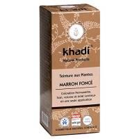 Khadi - Tinta per capelli da erbe naturali, colore: castano scuro