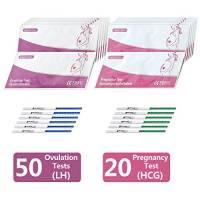 50 x Test di ovulazione ultrasensibili (25mIU/ml) + 20 x Test di Gravidanza ultrasensibili