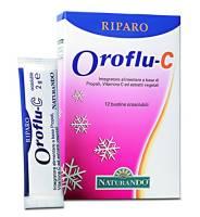 NATURANDO - RIPARO OROFLU C 12 BUSTINE DA 2 GRAMMI sistema immunitario, stagione fredda, influenza e raffreddore