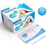 HOMIEE Strisce Kit per Test di Ovulazione e Strisce Test di Gravidanza (50pc LH)