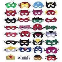 32 Pezzi Maschere di Supereroi, Supereroe per Feste, Supereroi Maschere Cosplay, Bomboniere Maschere per Bambini o Ragazzi di Età Compresa tra 3 e Più (Supereroi Maschere)