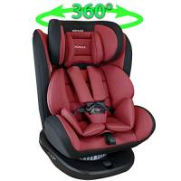 XOMAX 916 Seggiolino Auto con ISOFIX girevole 360 gradi e reclinabile I Evolutivo 0-36 kg, 0-12 anni I Gruppo 0+/1/2/3 I Housse amovible et lavable I ECE R44/04