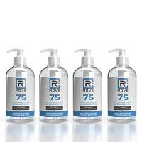 4 flaconi da 500ml gel igienizzante mani 75% ALCOL Gel mani profumato con GLICERINA che aiuta a idratare la pelle, super-concentrato, gel mani senza risciacquo (4 flaconi da 500ml)
