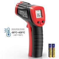 Termometro Infrarossi, Eventek Termometro Laser, Termometro Senza Contatto, Digital LCD, Nero/Rosso