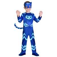 amscan- PJMASQUES Costume Pj Mask Cat Boy (3-4 Anni), Multicolore, 3, 7AM9902952