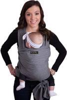 CuddleBug Fascia Porta Bebé per Neonati e Bimbi fino a 16 kg – Fascia Neonato per Trasporto a Mani Libere – Marsupio Bambino a Fascia – Ideale come Regalo Nascita e Baby Shower – (Grigio)