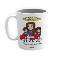 Tazza Mamma Supereroe Tazza/Mug Idea regalo Lavabile Festa della Mamma Ceramica Personalizzata con Nomi