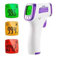 Termometro Febbre Infrarossi, Termometro Digitale Frontale per Adulti e Bambini Senza Contatto,Termometro Termoscanner per Febbre, Lettura Istantanea con Schermo LCD per Neonati