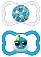 """MAM 217111 - Ciuccio """"Air"""" in lattice per maschietti dai 16 mesi in su, confezione doppia, Colori/ modelli assortiti"""