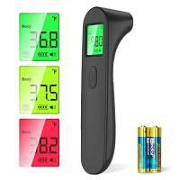 SOYES Termometro Febbre Infrarossi Termometro Frontale, Termometro Senza Contatto Frontale con Display a LED per Termometro Digitale,Allarme Temperatura Elevata Caratteristiche(nero)
