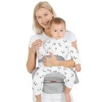 Lictin Ergonomico Hipseat Marsupio con Protezione - Neonato Marsupio con 5 Impostazioni di Angolazione Regolabili, Adatto per Bambini Dai 6 ai 36 Mesi(Massimo 20 kg / 44 Libbre)