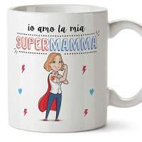 MUGFFINS Madre - Tazza Super Mamma migliori del mondo– Idee regali originali Festa della Mamma