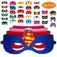 36 Pezzi Nuova Edizione Maschere di Supereroi, Maschera per Bambini, maschere da festa per supereroi ,Un'ottima scelta per Regali di Compleanno e Giochi di Ruolo, Adatta a Ragazzi e Ragazze