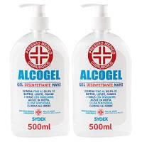 2 Flaconi da 500ml Gel Disinfettante Mani Professionale Igienizzante Antibatterico Presidio Medico Chirurgico Elimina fino al 99,9% di Germi Funghi Batteri e Virus. Produzione Italiana