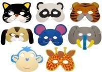 RETON Set di 20 Maschere di Schiuma per Bambini a Forma di Animali