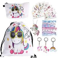 URAQT Sacca per Bambine Unicorno, Sacche Unicorno Bambina con 22 PCS Accessorie, Coulisse Zaino e Unicorno Regali per Ragazze Adatto a Sport, Scuola, Tempo Libero, Asilo, Gita (#1)