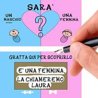 Aurìca Gratta Baby Shower 15 Biglietti da Consegnare Senza Fare Assembramenti per Fare Un Annuncio Gravidanza E Scoprire Il Sesso E Nome del Nascituro - Made in Italy