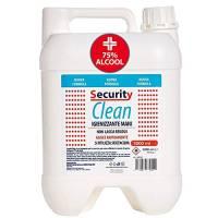 Security Clean Gel Igienizzante Mani Tanica 5 Litri Con 75% Alcol Disinfettante, Elimina al 99% Batteri Senza Utilizzo di Acqua, Perfetto Anche Come Ricarica Per Colonnine (5000 ML)