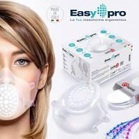 LAEFFE6 Mascherina Chirurgica in Silicone con Kit 30 Filtri - Protezione 98% - Maschera trasparente e riutilizzabile - Mascherina Adulti