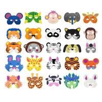 Cosoro, 25 maschere per bambini in schiuma EVA (etilene vinil acetato) a forma di animali, per feste in maschera, feste di compleanno, Natale, Halloween